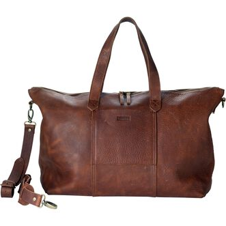 Lifetime Leather Travel Duffle Bag BROWN