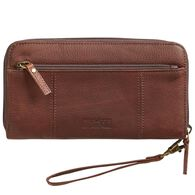 Women's Lifetime Leather Large Zip Wallet BROWN