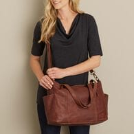 Lifetime Leather Large Tote BROWN
