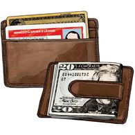 Working Man's Leather Money Clip BROWN