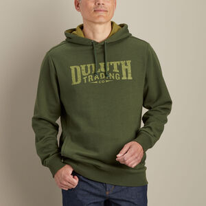 Men's Fleece Relaxed Fit Pullover Logo Hoodie