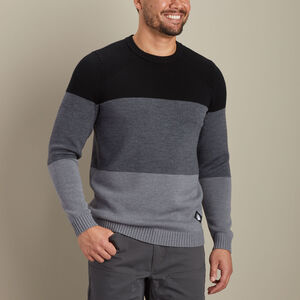 Men's AKHG Wateroff Merino Colorblock Crew