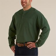 Men's Longtail T Long Sleeve Henley T-Shirt BURGND