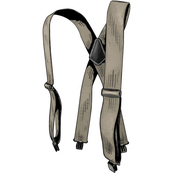 Men's Duluth Trading Tall Clip Suspenders STONE