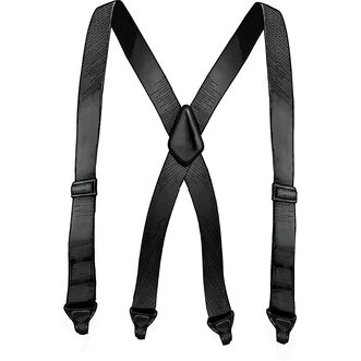 Men's Travel X-Back Metal Free Suspenders BLACK