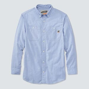 Men's 40 Grit Chambray Standard Fit Long Sleeve Shirt