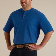 Men's Longtail T Short Sleeve Henley with Pocket H