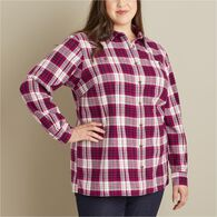 Women's Plus Free Swingin' Flannel Shirt RVTPLAD 3