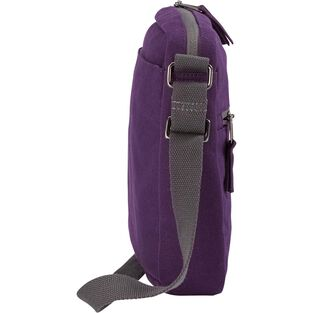 Women's Canvas Travel Zip Top Sling Bag