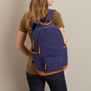 Women's Mixed Media Canvas Backpack