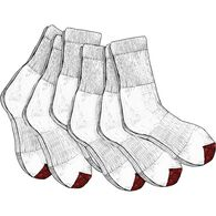 Men's Everyday 6-Pack Work Socks WHITE MED