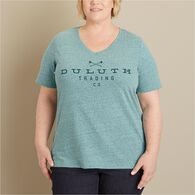 Women's Plus Lightweight Longtail T Slub Logo BBLH