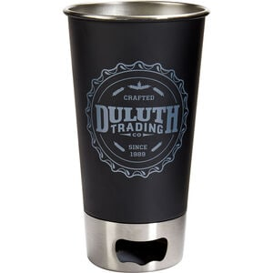 Duluth Trading Metal Pint Glass with Bottle Opener