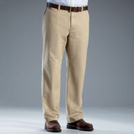 Men's Middle Management Flat Front Chinos NAVY 032