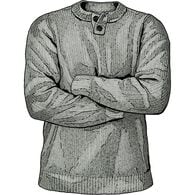 Men's Burly Retirement Henley Sweater GRAYHEA MED
