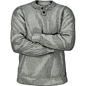 Men's Burly Retirement Henley Sweater