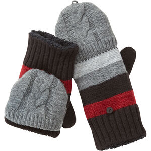 Women's Manzella Striped Knit Convertible Mittens
