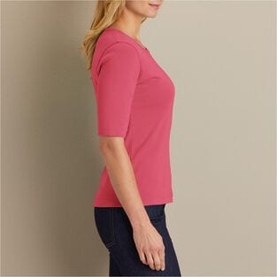 Women's Longtail T Elbow Sleeve Scoop Neck