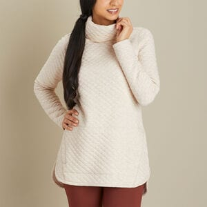 Women's Quilted Sweatshirt Tunic