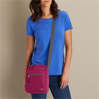 Women's Canvas Travel Zip Top Sling Bag BLKBERY