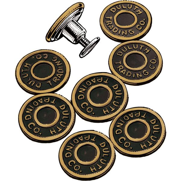 8-Pack Antique Gold Buttons