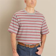 MN Longtail T Short Sleeve Stripe T-Shirt w/Pkt GY