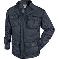 Men's Warden Waxed Canvas Shirt INK MED REG