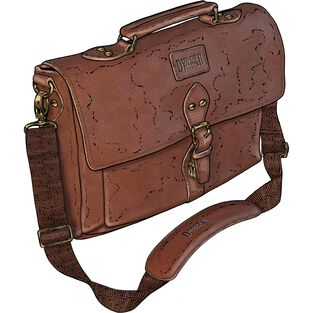 All-Business Leather Briefcase BROWN