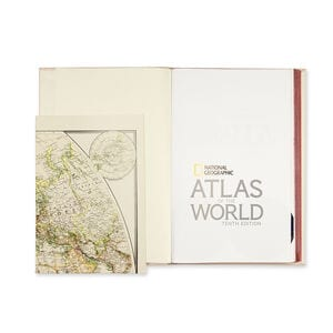 Best Made Leather Bound Tenth Edition World Atlas