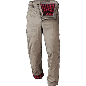 Men's DuluthFlex Ballroom Khaki Relaxed Flannel-Lined Pants