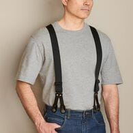 Men's Button Tall Y-Back Suspenders BLACK ONE SIZE