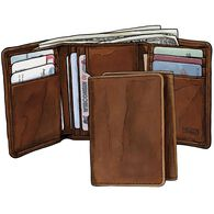 Working Man's Leather Tri-Fold Wallet BROWN