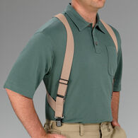 Men's Thin Side Clip Suspenders KHAKI
