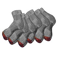 Men's Everyday 6-Pack Midweight Quarter Socks GRAY