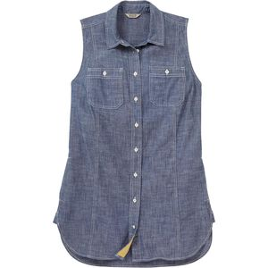 Women's Free Range Organic Chambray Sleeveless Tunic