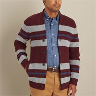 MN Burly Retirement Shawl Collar Stripe Cardigan G