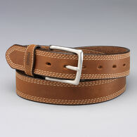 Men's Gets Better with Age Leather Work Belt BROWN
