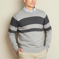 Men's Strongarm Cotton Crew Stripe Sweater NVYCRIS