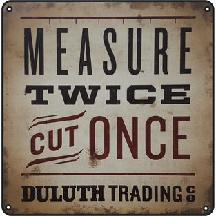 Duluth Trading Tin Shop Sign 1