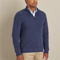Men's Burly Retirement 1/4 Zip Mock Neck SBLHTHR L
