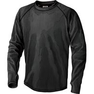 Men's 3 Dog Fleece Crew Base Layer Shirt BLACK MED
