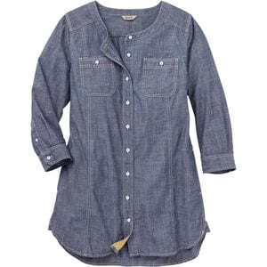 Women's Free Range Organic Chambray 3/4 Sleeve Tunic