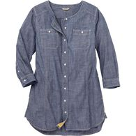 Women's Chambray 3/4 Sleeve Tunic INDGCHB XSM