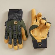 Men's Duluth D2 Leather Impact Gloves BLACK LRG