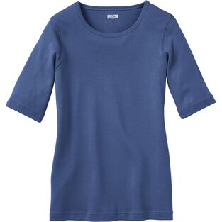 Women's Plus Longtail T Elbow Sleeve Scoop Neck