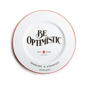 Best Made Be Optimistic Enamel Charger Plate