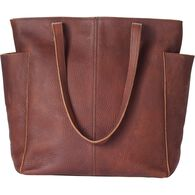Women's Lifetime Leather Tote Bag BROWN