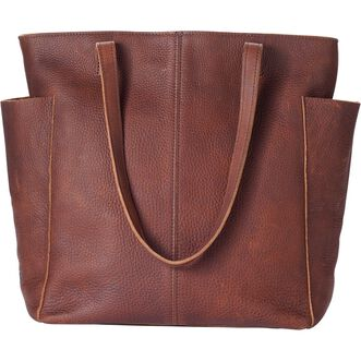 c124fb0948ca Women s Lifetime Leather Tote Bag BROWN Women s Lifetime Leather Tote Bag  BROWN ...