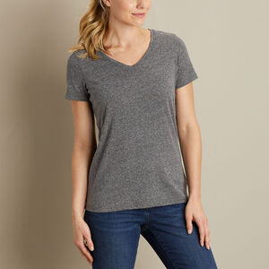 Women's Lightweight Longtail T Slub V-Neck