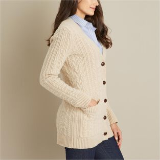 Women's Fisherman Long Cardigan